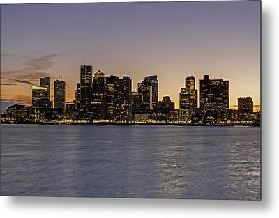 Metal Print featuring the photograph Boston Last Night Sunset by Juergen Roth