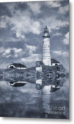 Metal Print featuring the photograph Boston Light  by Ian Mitchell