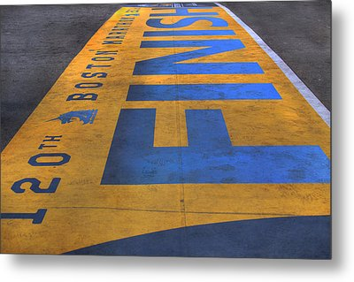 Boston Marathon Finish Line Metal Print