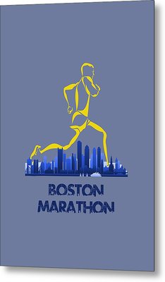 Boston Marathon5 Metal Print by Joe Hamilton