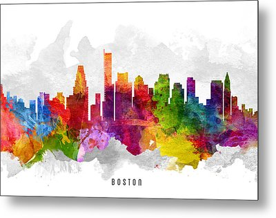 Boston Massachusetts Cityscape 13 Metal Print