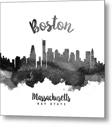 Boston Massachusetts Skyline 18 Metal Print by Aged Pixel