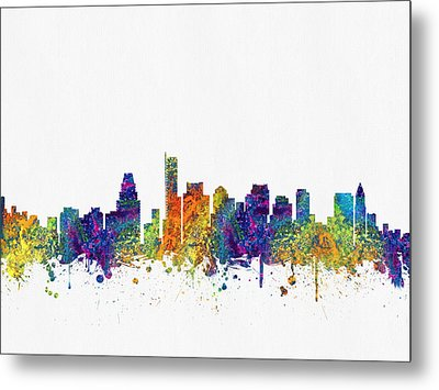 Boston Massachusetts Skyline Color03 Metal Print