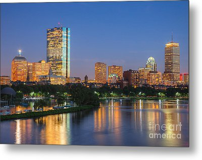 Boston Night Skyline II Metal Print by Clarence Holmes