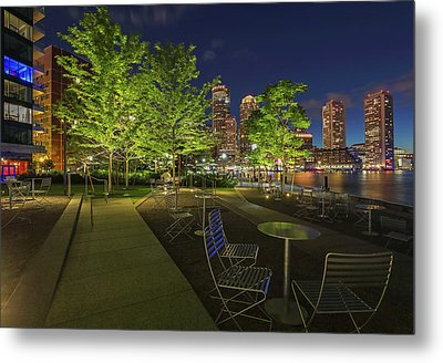 Boston Nightlife Metal Print