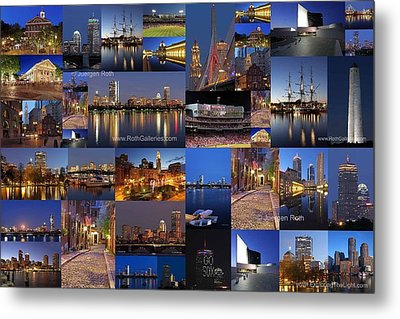 Metal Print featuring the photograph Boston Nights Of Light by Juergen Roth