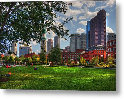 Boston North End Parks - Rose Kennedy Greenway Metal Print