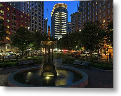 Boston Park Plaza Hotel Metal Print