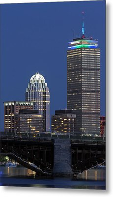 Boston Prudential Center Celebrating 100th Anniversary Of Shaw Market Metal Print by Juergen Roth