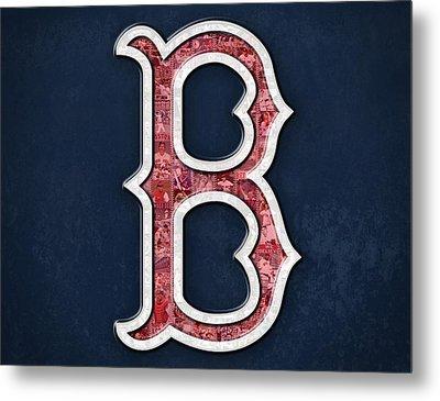 Boston Red Sox Metal Print by Fairchild Art Studio