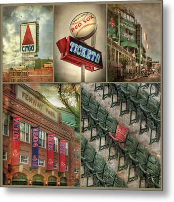 Boston Red Sox Fenway Park Collage Metal Print