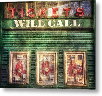 Boston Red Sox Fenway Park Ticket Booth Metal Print
