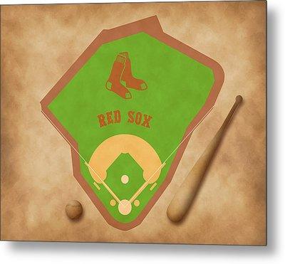 Boston Red Sox Field Metal Print by Carl Scallop