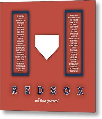 Boston Red Sox Art - Mlb Baseball Wall Print Metal Print