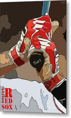 Boston Red Sox Original Typography Baseball Team  Metal Print by Pablo Franchi