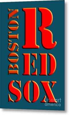 Boston Red Sox Sign Metal Print by Pablo Franchi