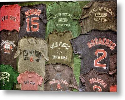 Boston Red Sox Tee Shirts Art Metal Print by Joann Vitali