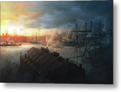 Boston, September The 2nd, 1930. Miskatonic Expedition. Metal Print