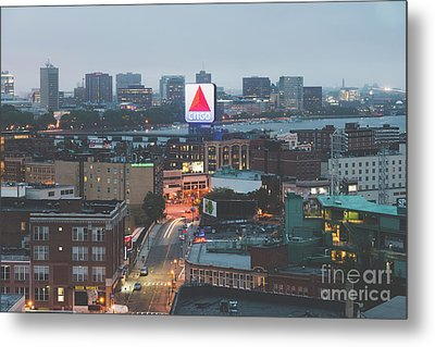 Boston Skyline Aerial Citgo Sign Photo Metal Print by Paul Velgos