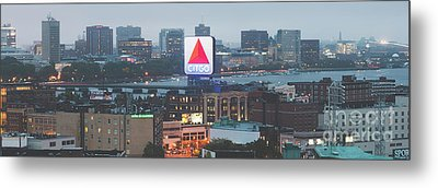 Boston Skyline Aerial Panorama Photo Metal Print