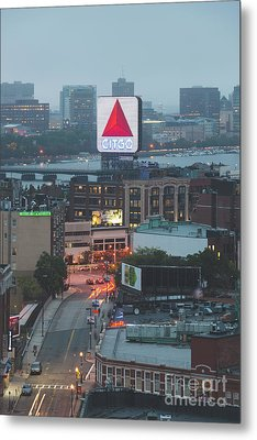 Boston Skyline Aerial Photo With Citgo Sign Metal Print
