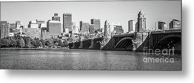 Boston Skyline Black And White Panorama Photo Metal Print by Paul Velgos