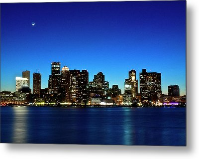 Boston Skyline Metal Print by By Eric Lorentzen-Newberg