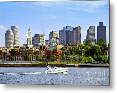 Boston Skyline Metal Print by Elena Elisseeva