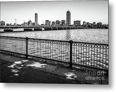 Boston Skyline Harvard Bridge Back Bay Photo Metal Print by Paul Velgos