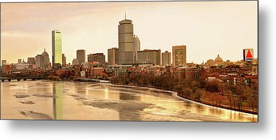 Boston Skyline On A December Morning Metal Print by Mitchell R Grosky