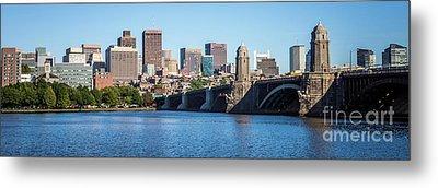 Boston Skyline Panorama With Longfellow Bridge Metal Print by Paul Velgos