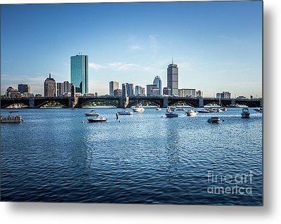 Boston Skyline With The Longfellow Bridge Metal Print by Paul Velgos