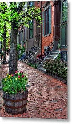 Boston South End Row Houses Metal Print by Joann Vitali