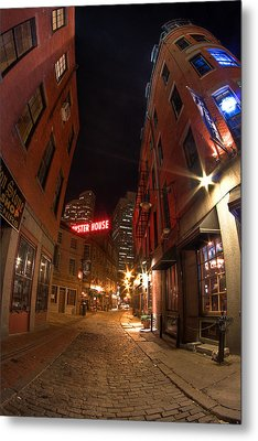 Boston Street Metal Print by Joshua Ball