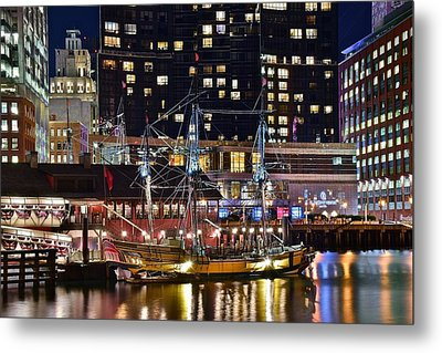 Boston Tea Party Metal Print by Frozen in Time Fine Art Photography