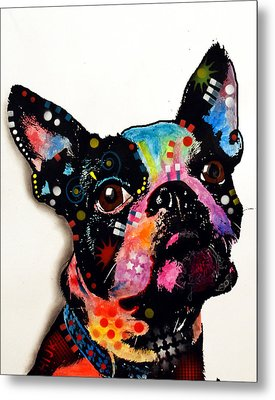Boston Terrier II Metal Print by Dean Russo