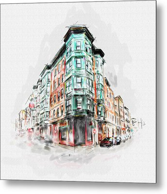 Bostons North End 222 1 Metal Print by Mawra Tahreem