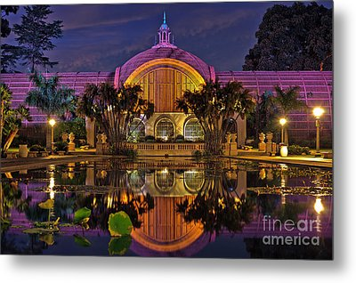 Botanical Building At Night In Balboa Park Metal Print