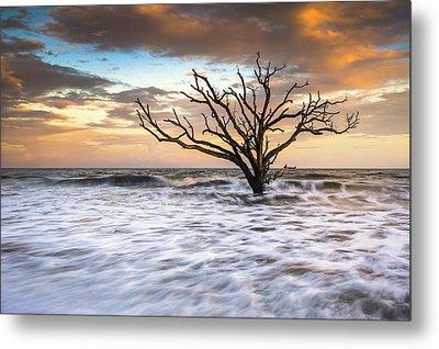 Botany Bay Edisto Island Sc Boneyard Beach Sunset Metal Print by Dave Allen