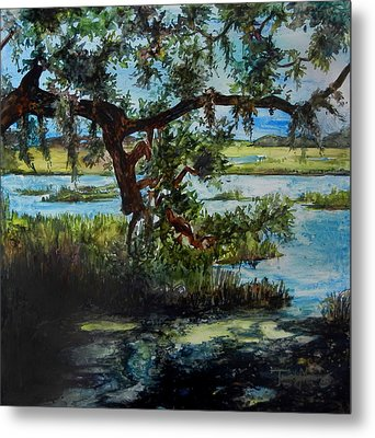 Botany Bay Summer Marsh Metal Print by Trish McKinney
