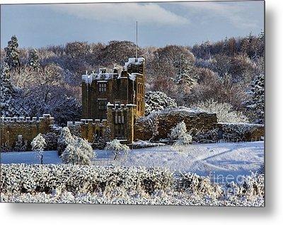 Bothal Castle In Winter Metal Print