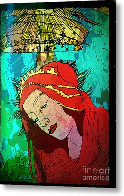 Botticelli Madonna Expressionistic Metal Print by Genevieve Esson