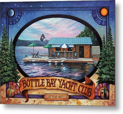 Bottle Bay Yacht Club Metal Print