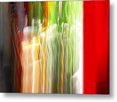 Metal Print featuring the photograph Bottle By The Window by Susan Capuano