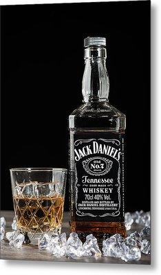Bottle Of Jack Daniel's Metal Print by Amanda Elwell