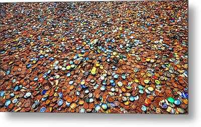 Bottlecap Alley Metal Print