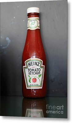 Bottled Ketchup - 5d18039 Metal Print by Wingsdomain Art and Photography