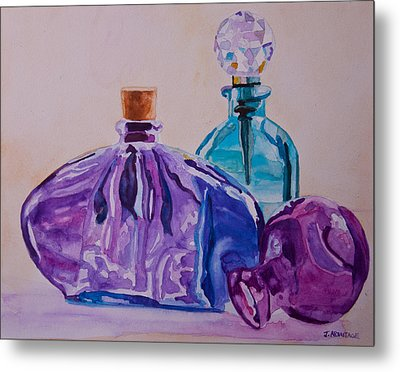 Bottles And Stoppers Metal Print by Jenny Armitage