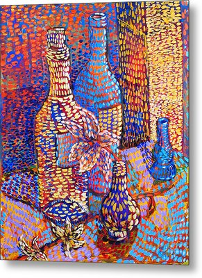 Bottles And Vases Metal Print by Rollin Kocsis