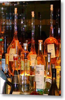 Bottles At The Modern Metal Print by Angela Annas